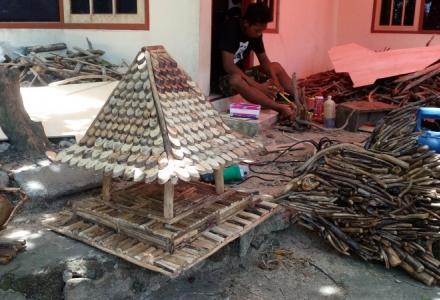 Kerajinan Sampah Kayu Laut bernilai Ekspor