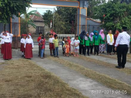 Upacara 17 Agustus 2018 Warga Dusun Muneng