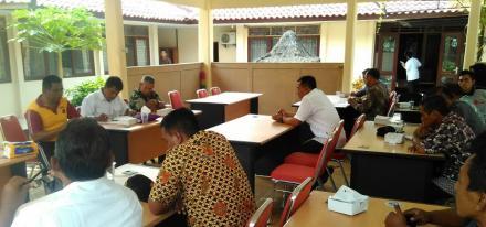 Rapat koordinasi permasalahan penambanganan pasir Sungai Opak