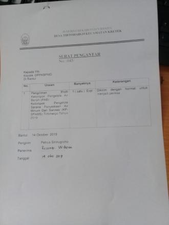 PAMSIMAS DESA TIRTOHARGO IKUT LOMBA PAB 2019